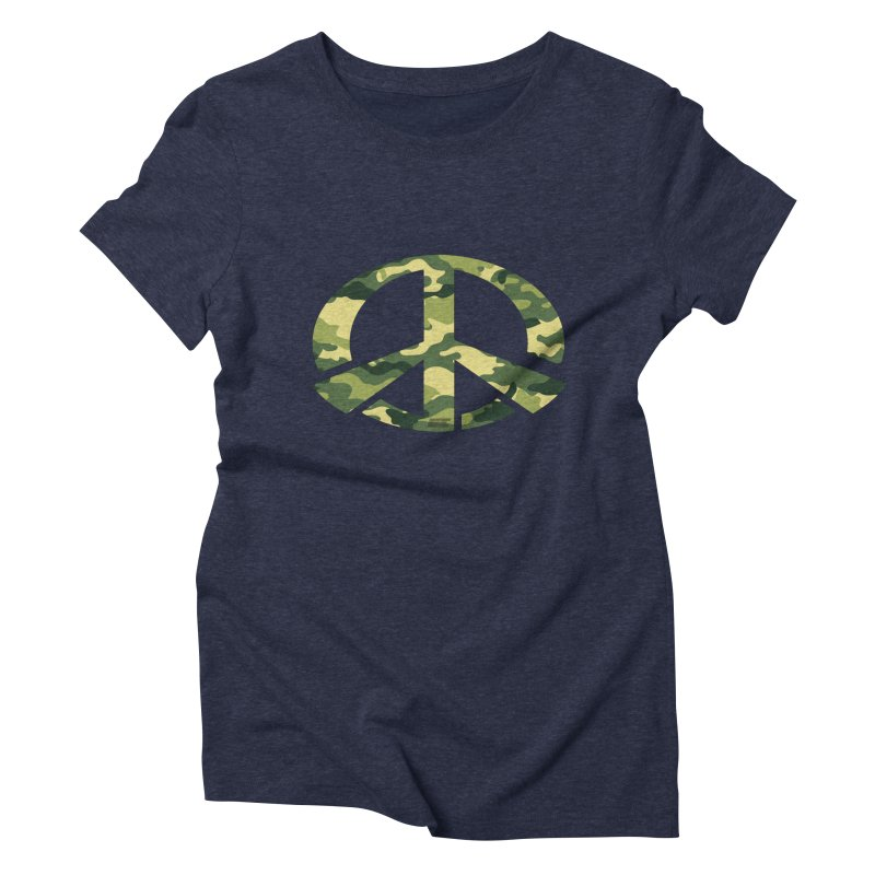 Peace - Camo Edition Women's Triblend T-Shirt by uniquego's Artist Shop