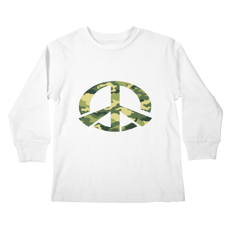 Peace - Camo Edition Kids Longsleeve T-Shirt by uniquego's Artist Shop