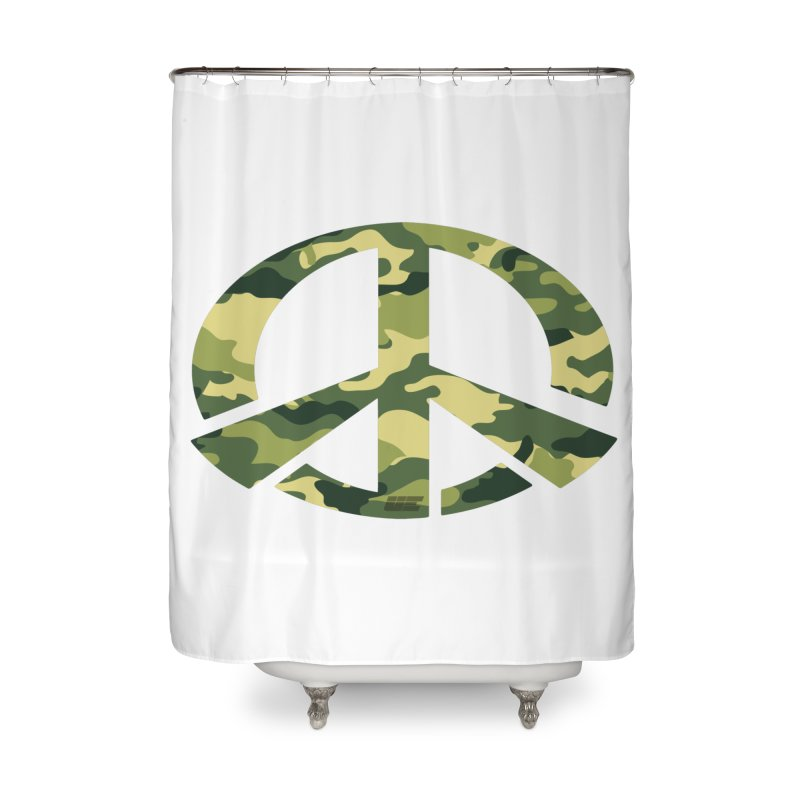 Peace - Camo Edition Home Shower Curtain by uniquego's Artist Shop