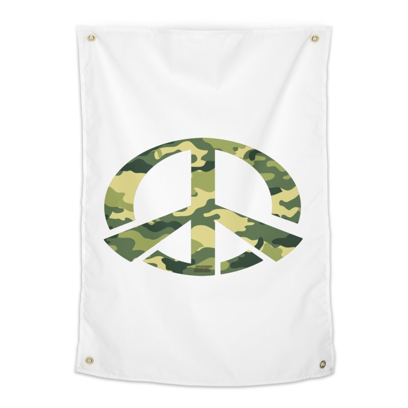 Peace - Camo Edition Home Tapestry by uniquego's Artist Shop
