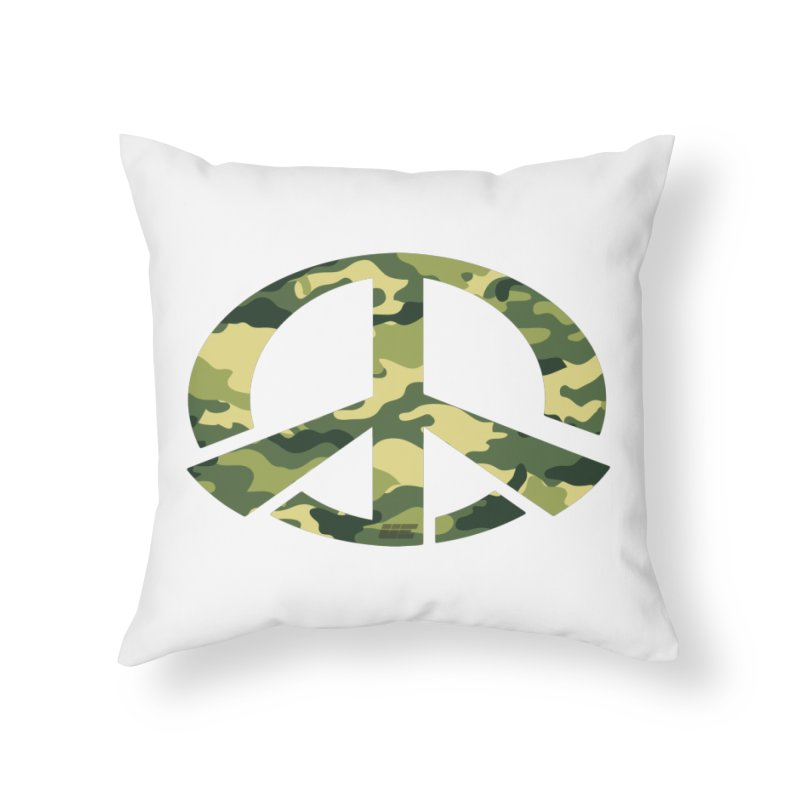 Peace - Camo Edition Home Throw Pillow by uniquego's Artist Shop
