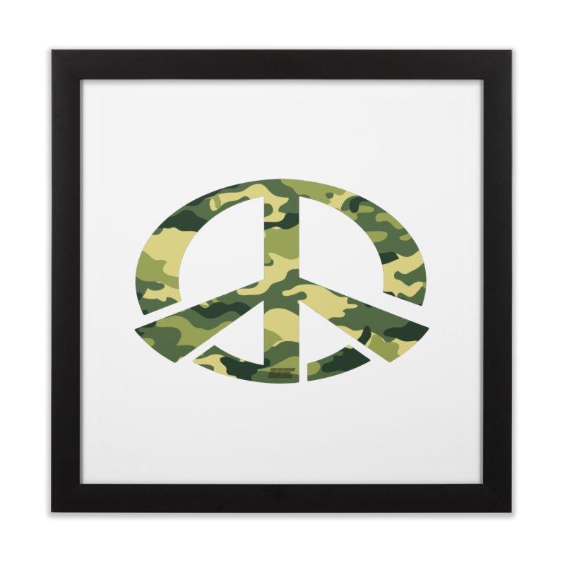 Peace - Camo Edition Home Framed Fine Art Print by uniquego's Artist Shop