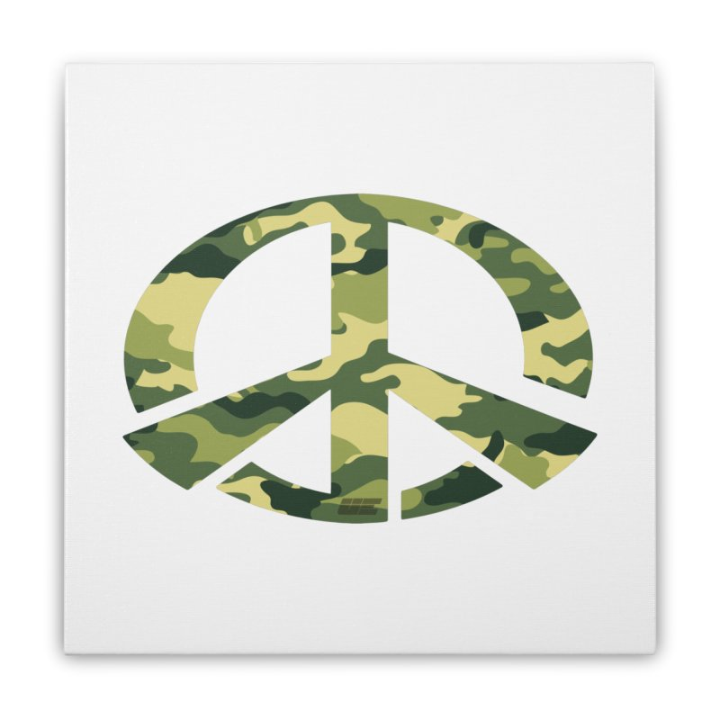 Peace - Camo Edition Home Stretched Canvas by uniquego's Artist Shop