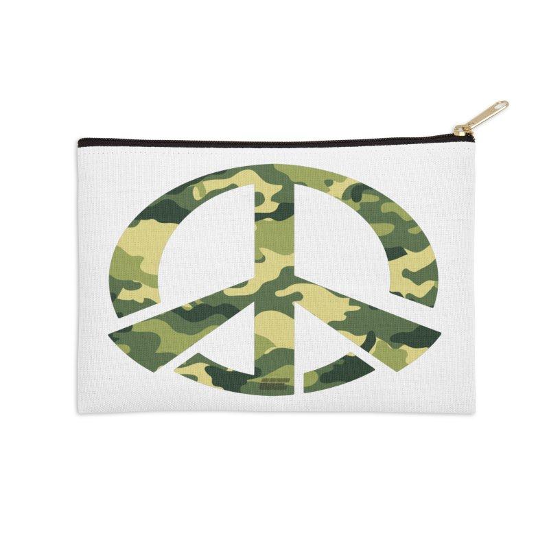 Peace - Camo Edition Accessories Zip Pouch by uniquego's Artist Shop