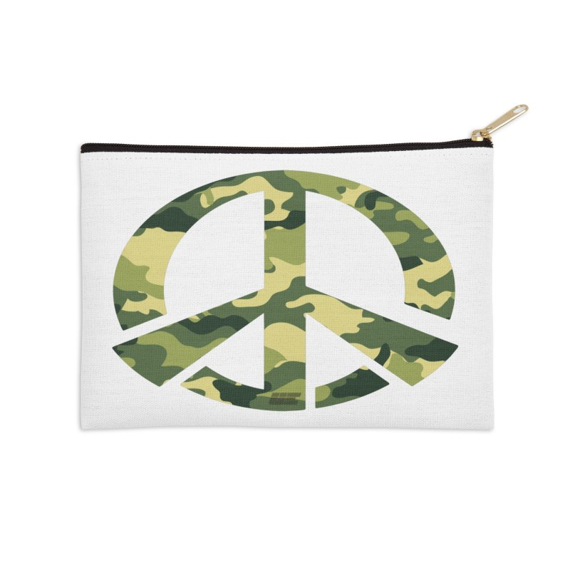 Peace - Camo Edition Accessories Zip Pouch by uniquego's Artist Shop