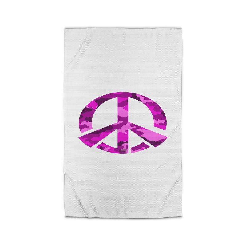 Peace - Pink Camo Edition Home Rug by uniquego's Artist Shop