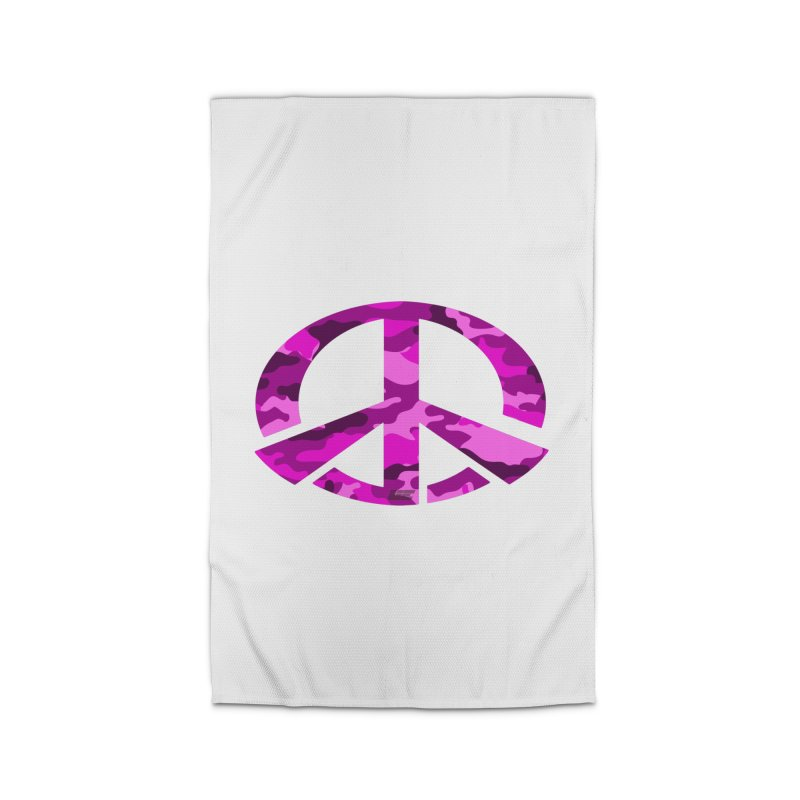Peace - Pink Camo Edition Home Rug by uniquego's Artist Shop