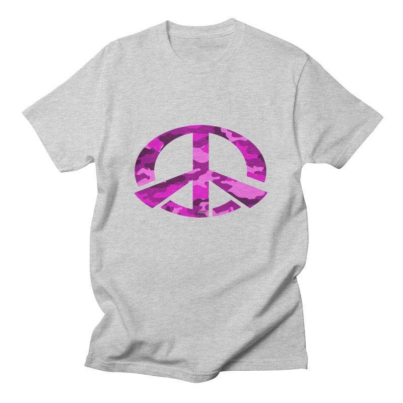 Peace - Pink Camo Edition Men's T-Shirt by uniquego's Artist Shop