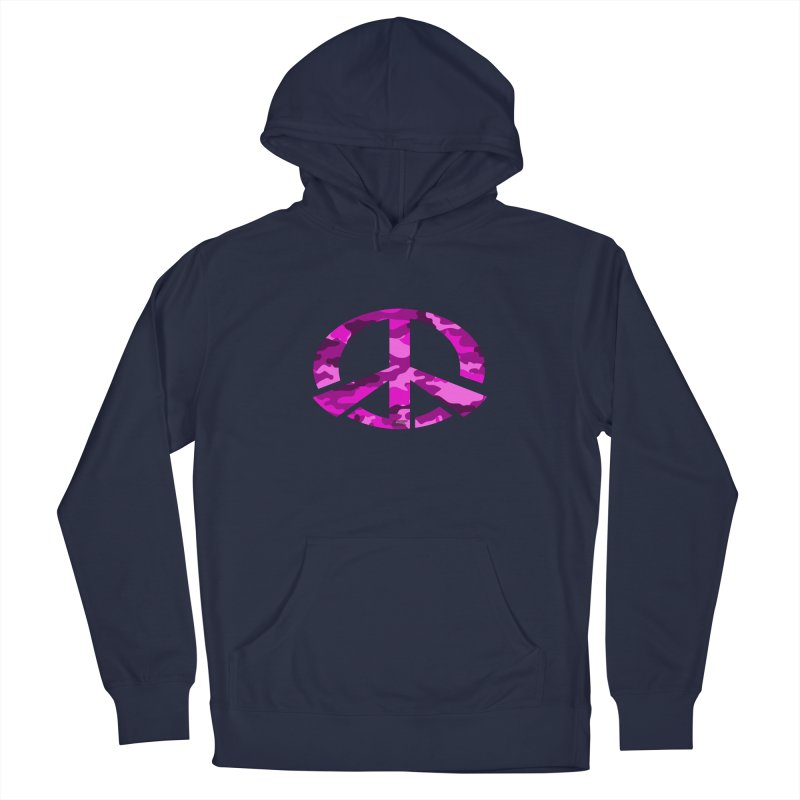 Peace - Pink Camo Edition Men's Pullover Hoody by uniquego's Artist Shop