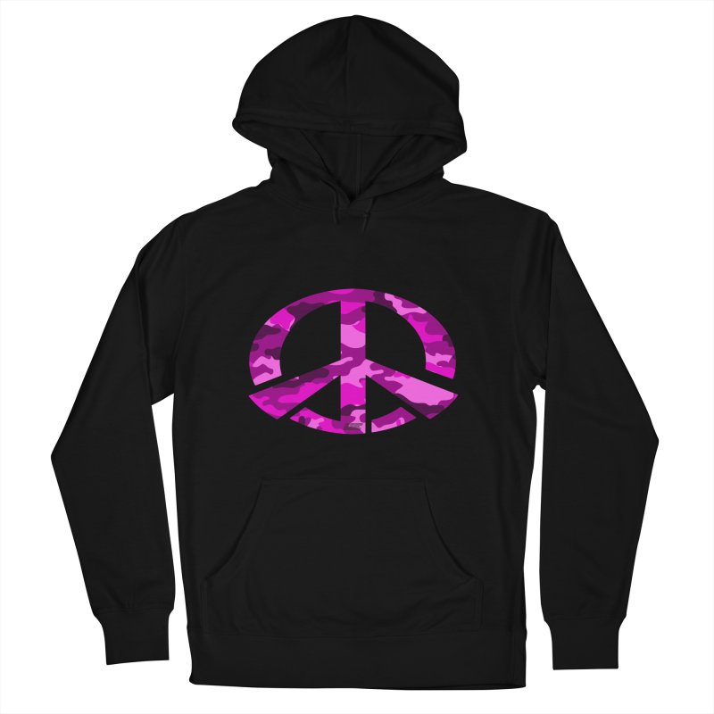 Peace - Pink Camo Edition Men's French Terry Pullover Hoody by uniquego's Artist Shop