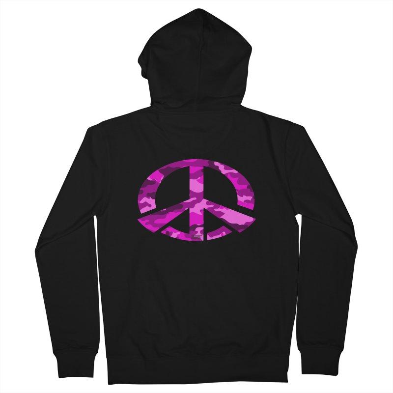 Peace - Pink Camo Edition Men's Zip-Up Hoody by uniquego's Artist Shop
