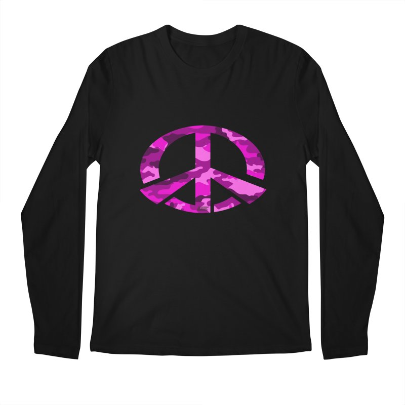 Peace - Pink Camo Edition Men's Regular Longsleeve T-Shirt by uniquego's Artist Shop