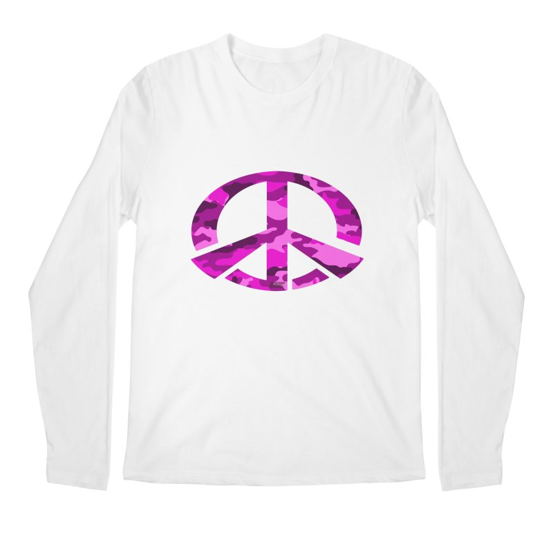 Peace - Pink Camo Edition Men's Regular Longsleeve T-Shirt by uniquego's Artist Shop