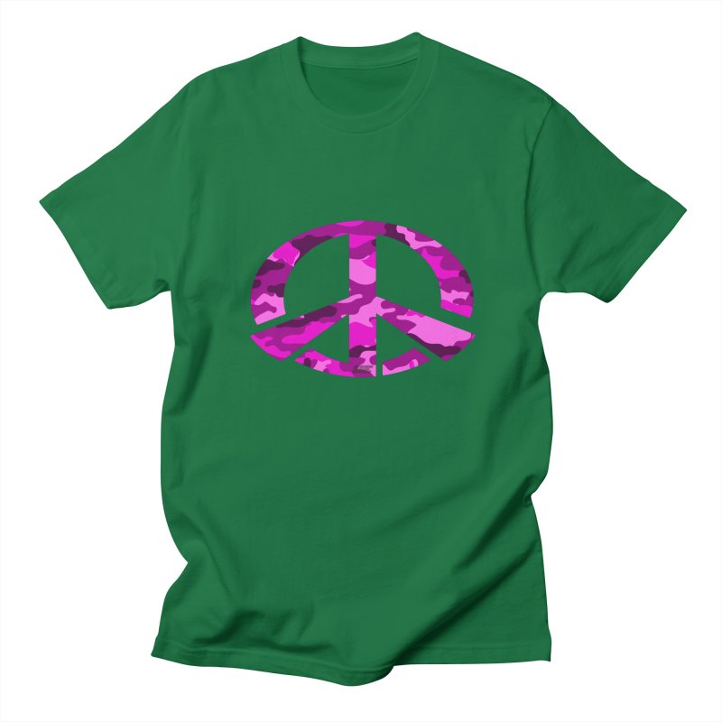Peace - Pink Camo Edition Men's Regular T-Shirt by uniquego's Artist Shop