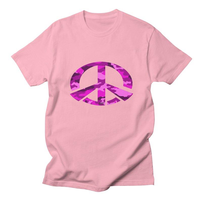 Peace - Pink Camo Edition Women's Regular Unisex T-Shirt by uniquego's Artist Shop