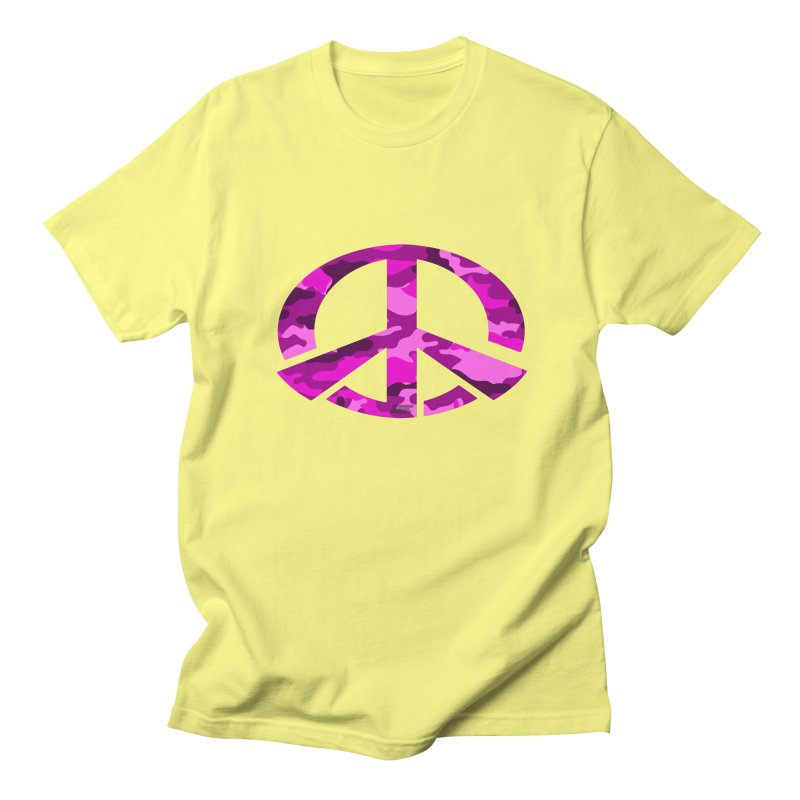 Peace - Pink Camo Edition Women's Regular Unisex T-Shirt by uniquego's Artist Shop