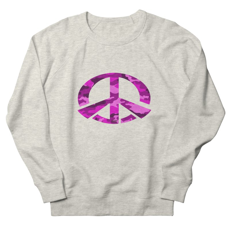 Peace - Pink Camo Edition Men's French Terry Sweatshirt by uniquego's Artist Shop