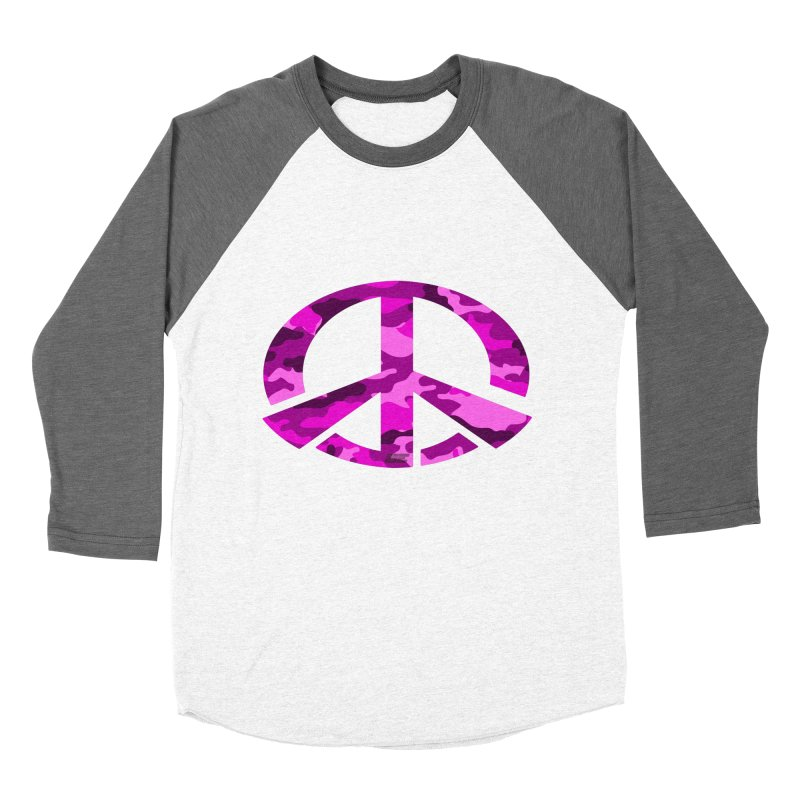 Peace - Pink Camo Edition Women's Baseball Triblend Longsleeve T-Shirt by uniquego's Artist Shop