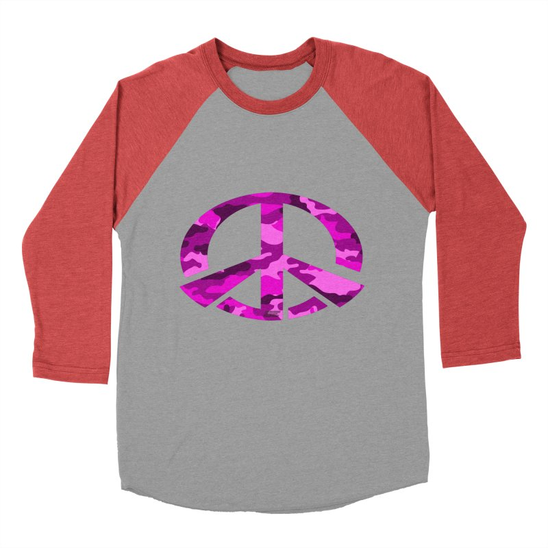 Peace - Pink Camo Edition Men's Baseball Triblend Longsleeve T-Shirt by uniquego's Artist Shop