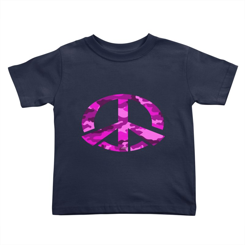 Peace - Pink Camo Edition Kids Toddler T-Shirt by uniquego's Artist Shop