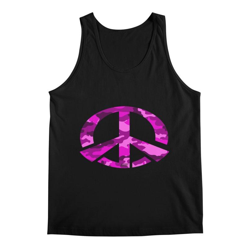 Peace - Pink Camo Edition Men's Regular Tank by uniquego's Artist Shop