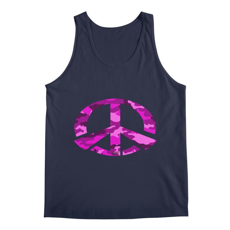 Peace - Pink Camo Edition Men's Tank by uniquego's Artist Shop