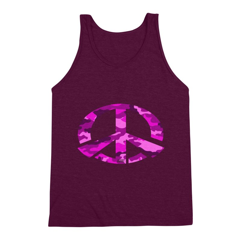 Peace - Pink Camo Edition Men's Triblend Tank by uniquego's Artist Shop
