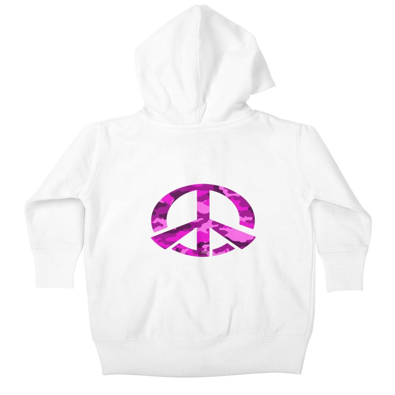 Peace - Pink Camo Edition Kids Baby Zip-Up Hoody by uniquego's Artist Shop