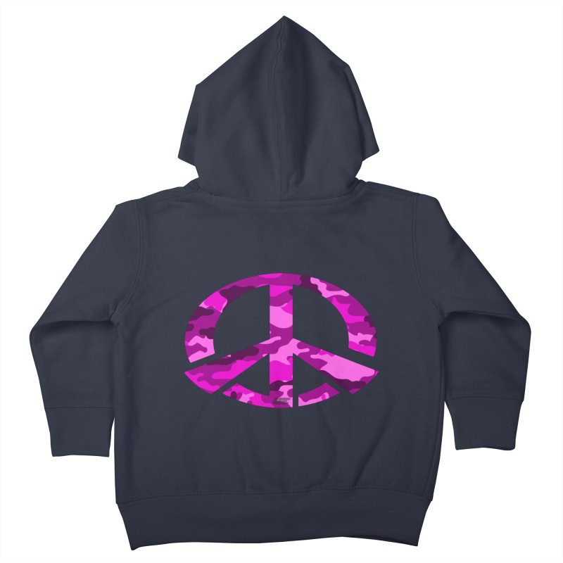 Peace - Pink Camo Edition Kids Toddler Zip-Up Hoody by uniquego's Artist Shop