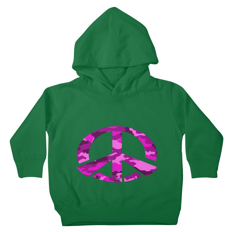 Peace - Pink Camo Edition Kids Toddler Pullover Hoody by uniquego's Artist Shop