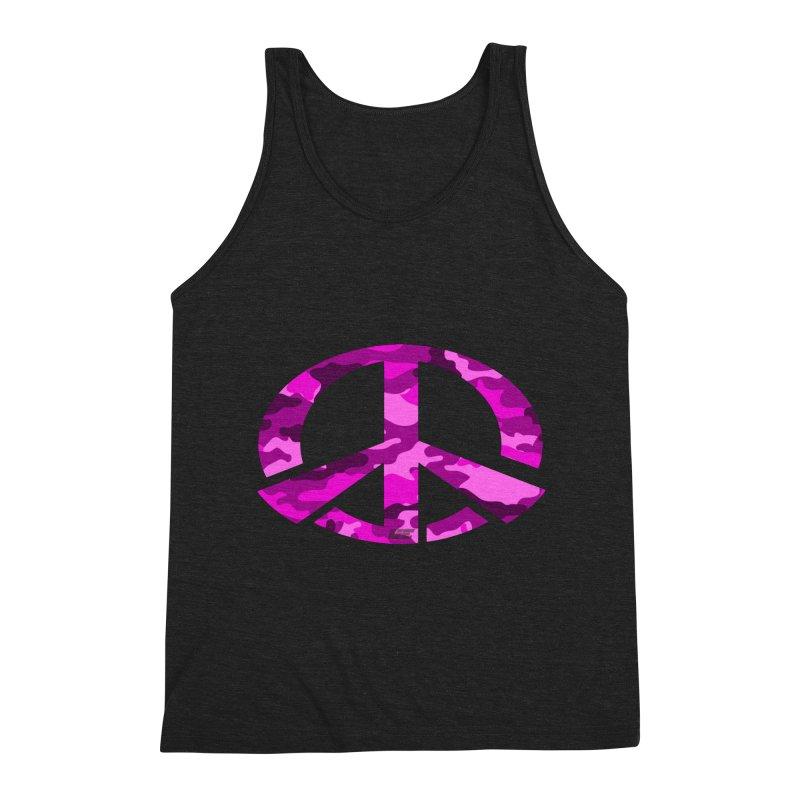Peace - Pink Camo Edition Men's Triblend Tank by uniquego's Artist Shop