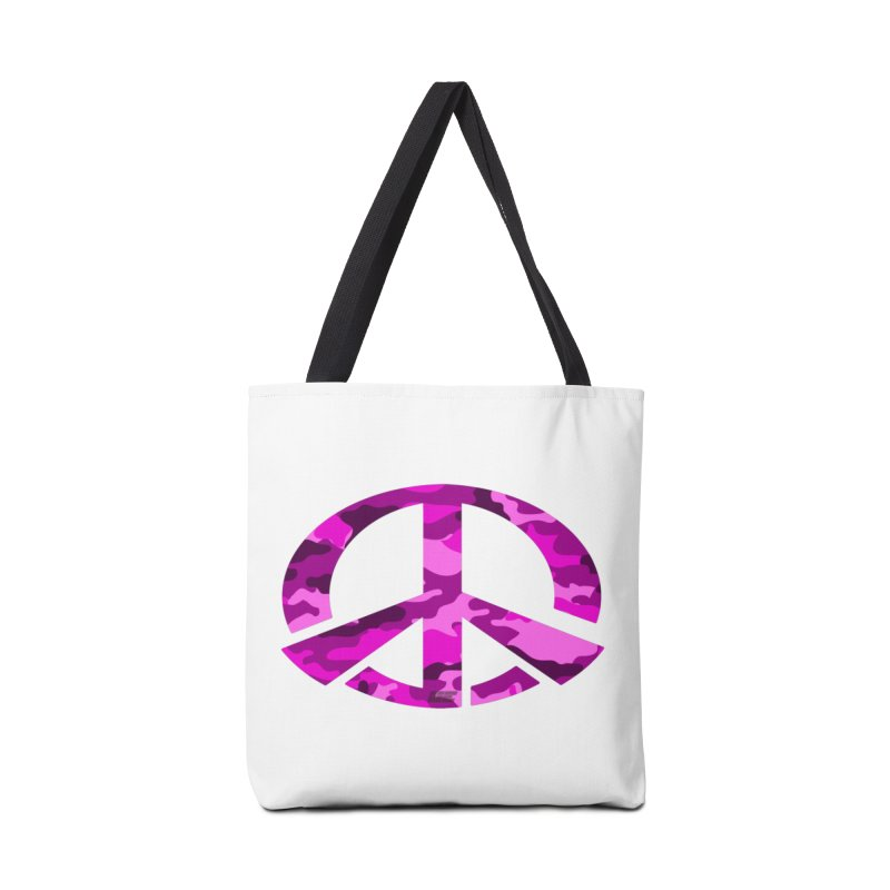 Peace - Pink Camo Edition Accessories Tote Bag Bag by uniquego's Artist Shop
