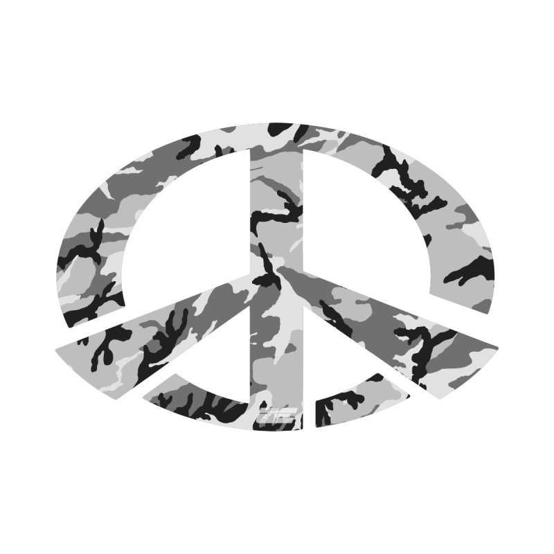 Peace - Snow Camo Edition Home Tapestry by uniquego's Artist Shop