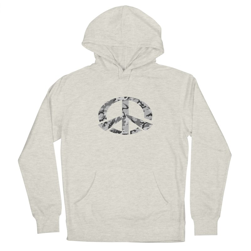 Peace - Snow Camo Edition Women's French Terry Pullover Hoody by uniquego's Artist Shop