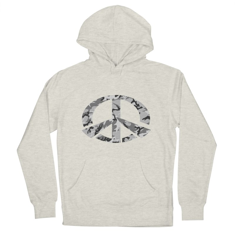 Peace - Snow Camo Edition Men's French Terry Pullover Hoody by uniquego's Artist Shop