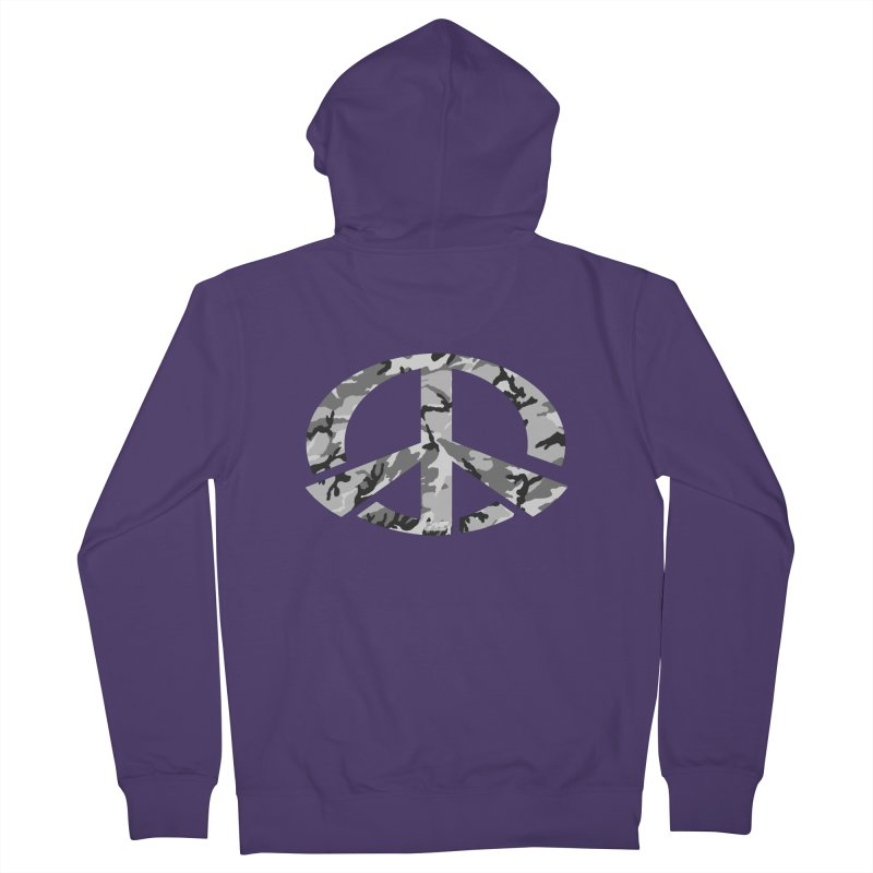 Peace - Snow Camo Edition Women's French Terry Zip-Up Hoody by uniquego's Artist Shop