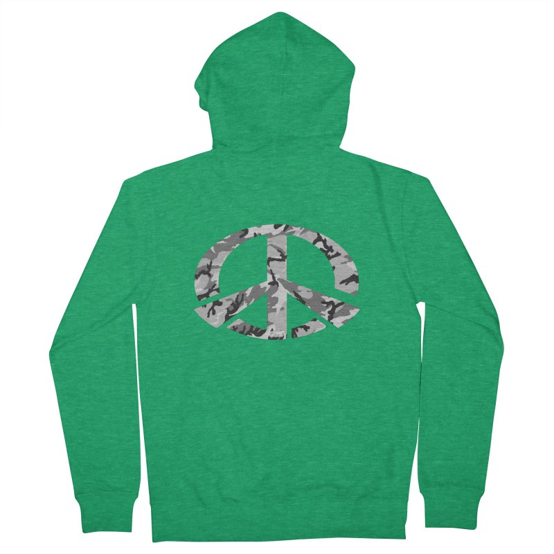 Peace - Snow Camo Edition Men's Zip-Up Hoody by uniquego's Artist Shop