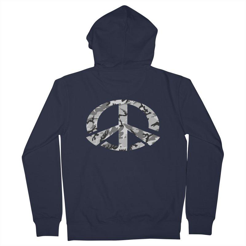 Peace - Snow Camo Edition Men's Zip-Up Hoody by uniquego's Artist Shop