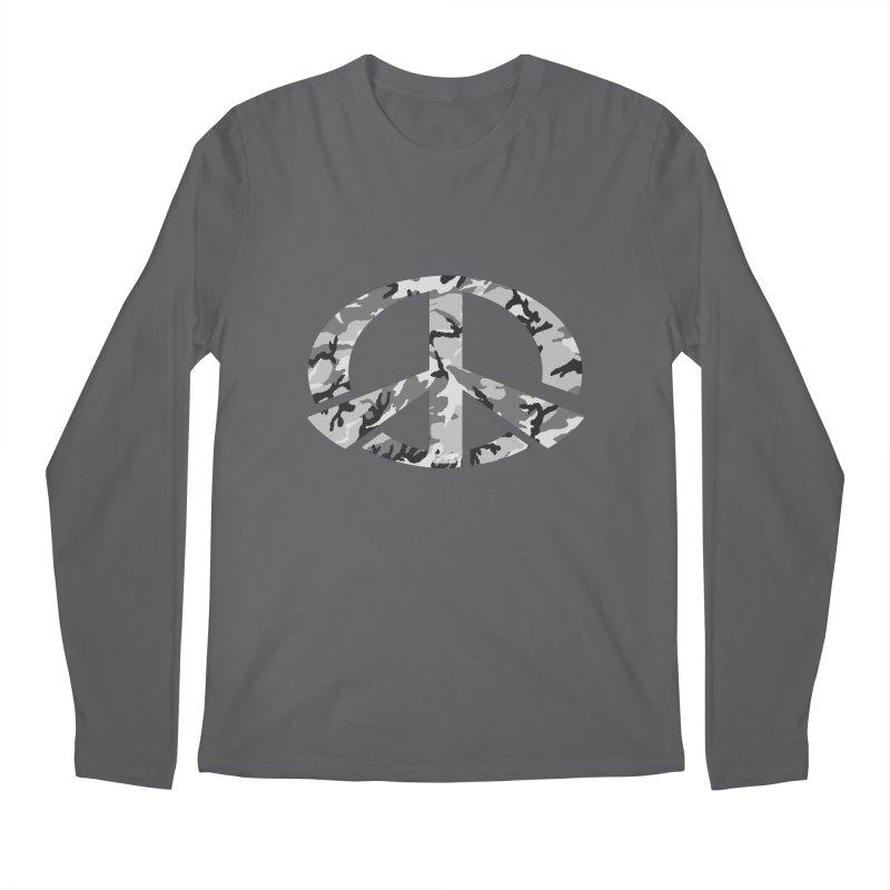 Peace - Snow Camo Edition Men's Longsleeve T-Shirt by uniquego's Artist Shop
