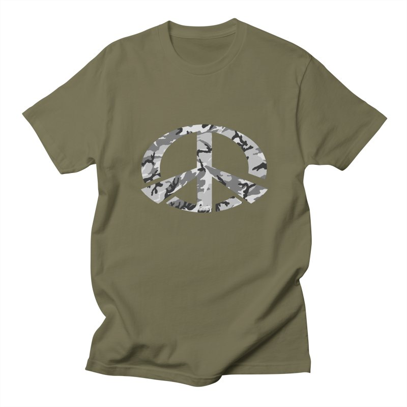 Peace - Snow Camo Edition Men's Regular T-Shirt by uniquego's Artist Shop