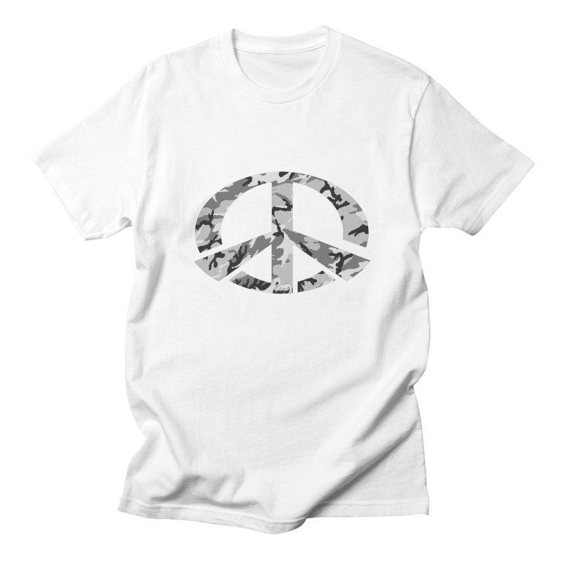 Peace - Snow Camo Edition Men's T-Shirt by uniquego's Artist Shop