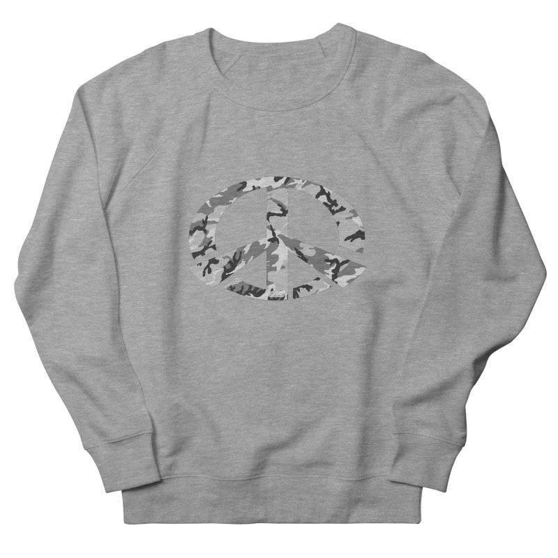 Peace - Snow Camo Edition Women's French Terry Sweatshirt by uniquego's Artist Shop
