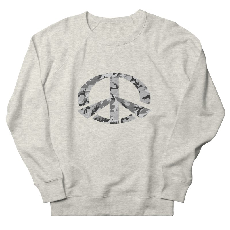Peace - Snow Camo Edition Men's French Terry Sweatshirt by uniquego's Artist Shop