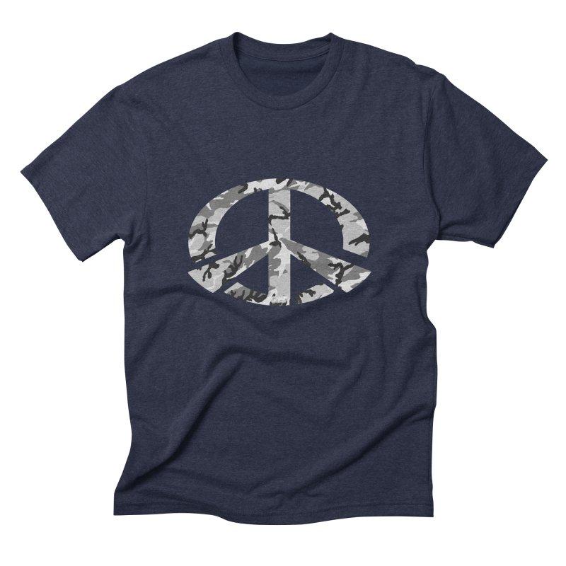 Peace - Snow Camo Edition Men's Triblend T-Shirt by uniquego's Artist Shop