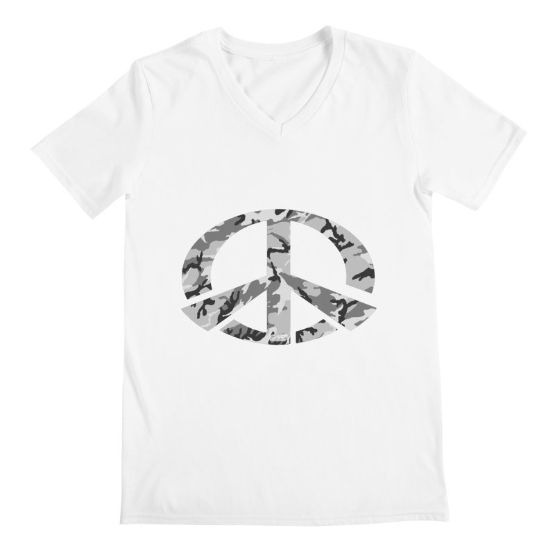 Peace - Snow Camo Edition Men's V-Neck by uniquego's Artist Shop