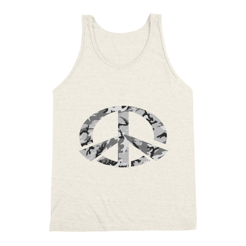 Peace - Snow Camo Edition Men's Triblend Tank by uniquego's Artist Shop