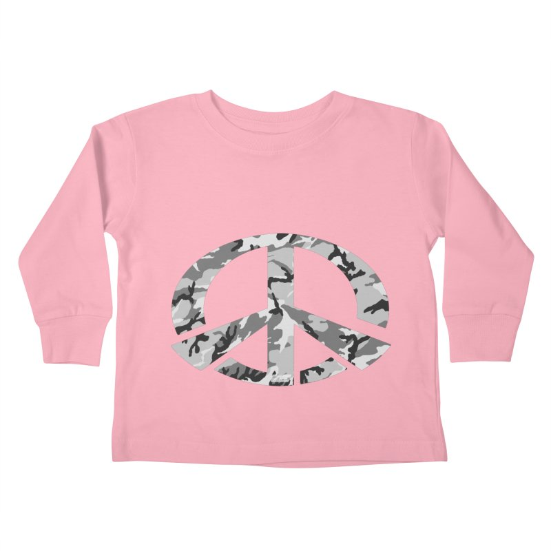 Peace - Snow Camo Edition Kids Toddler Longsleeve T-Shirt by uniquego's Artist Shop