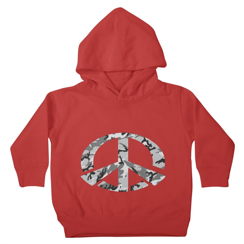 Peace - Snow Camo Edition Kids Toddler Pullover Hoody by uniquego's Artist Shop