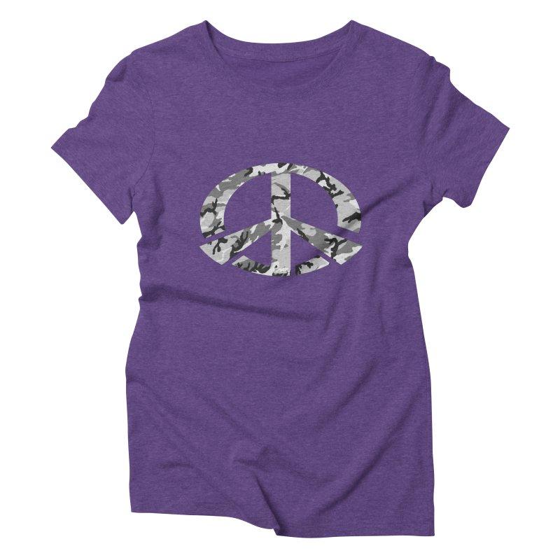 Peace - Snow Camo Edition Women's Triblend T-Shirt by uniquego's Artist Shop
