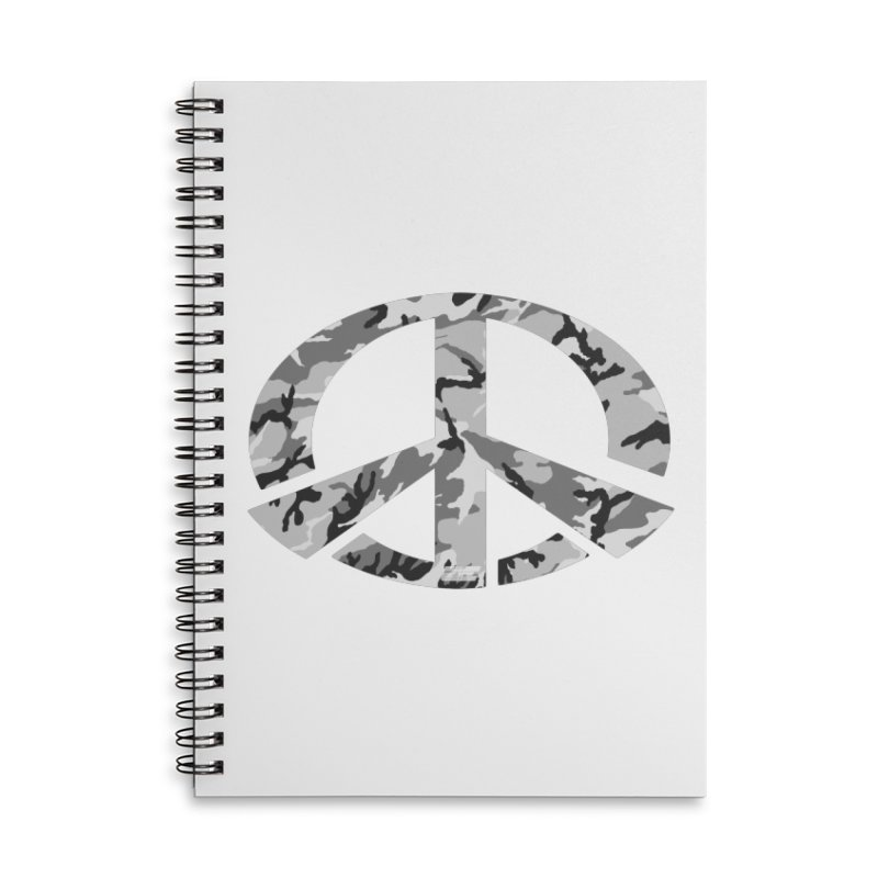 Peace - Snow Camo Edition Accessories Lined Spiral Notebook by uniquego's Artist Shop